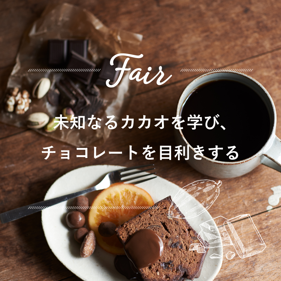 FAIR『未知なるカカオを学び チョコレートを目利きする』