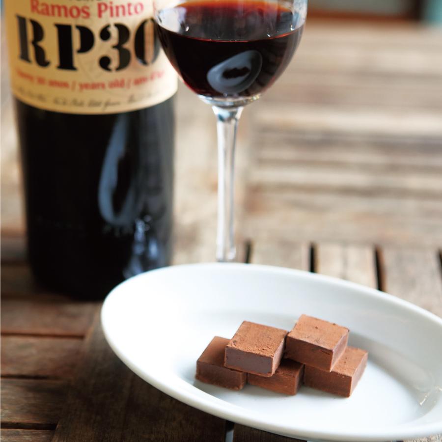 小牟礼シェフの生チョコレートとポートワイン