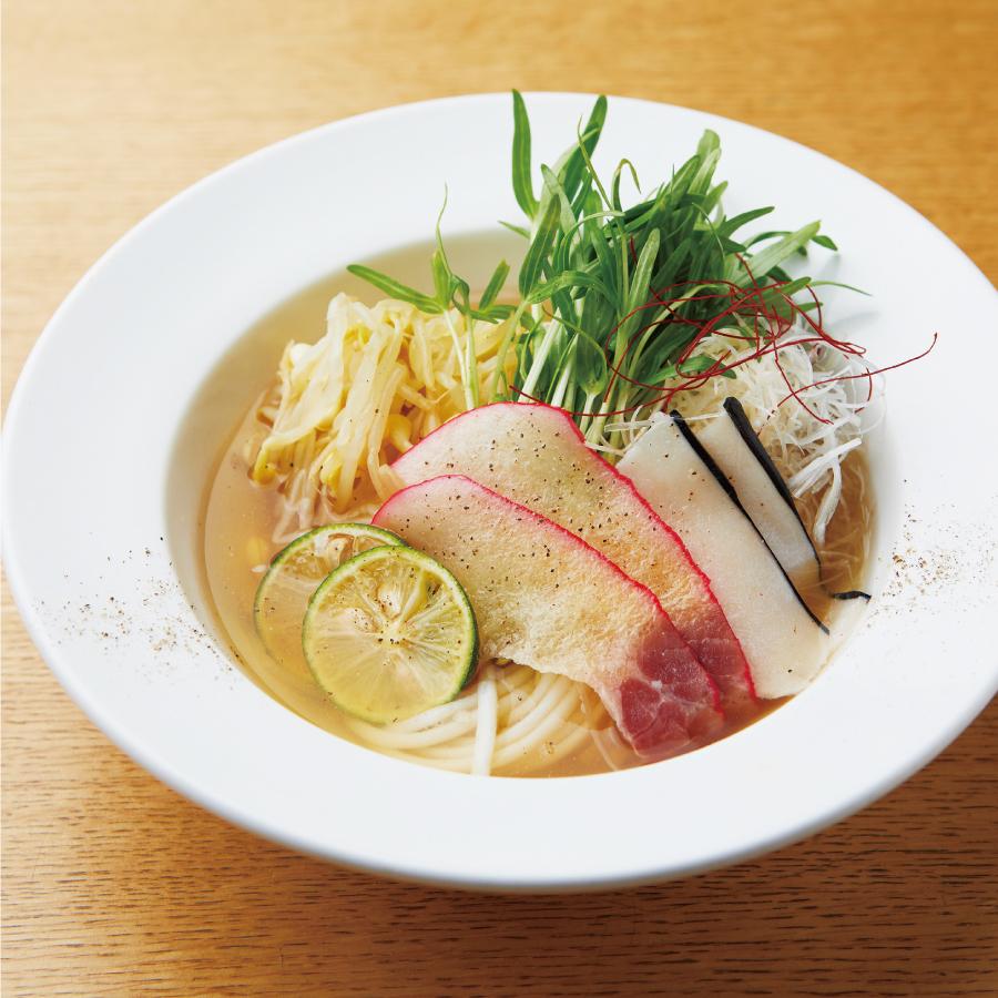 靍田料理長の黄金出汁の鯨ハリハリにゅうめん