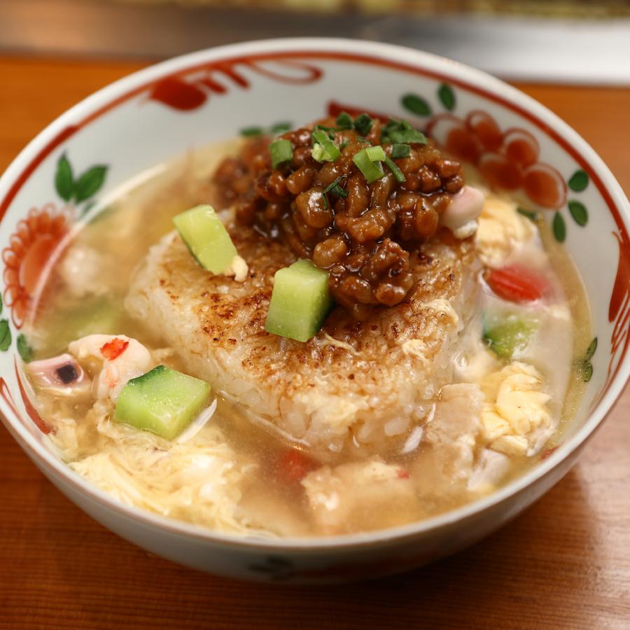 味の変化が愉しめる 中華スープ風おむすび