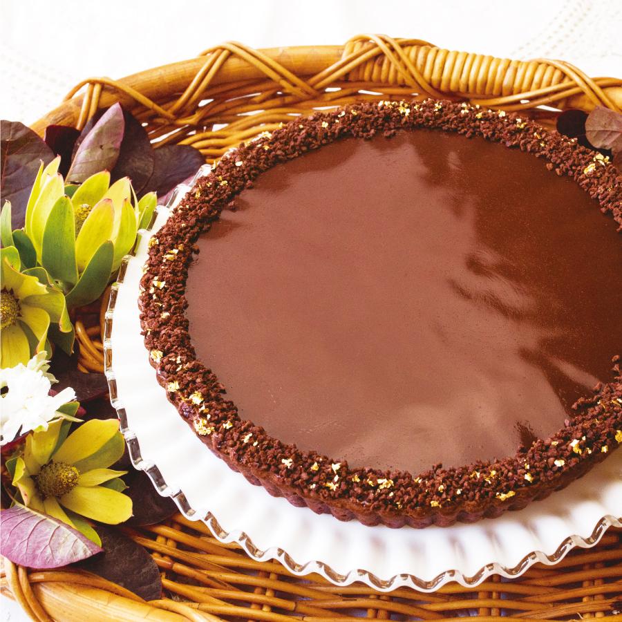 チョコレートクリームのタルト