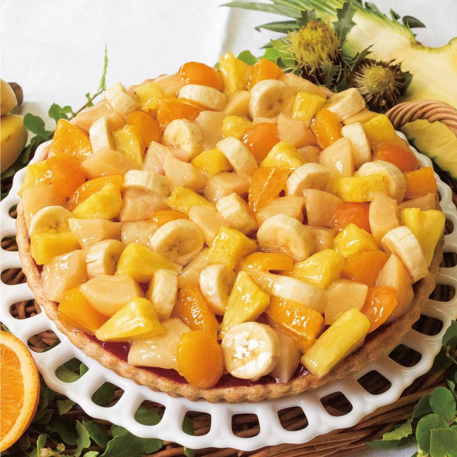 夏の果実のミックスフルーツ ジュースのタルト