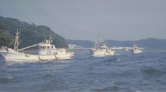 いりこは旋網漁業が主流だ。